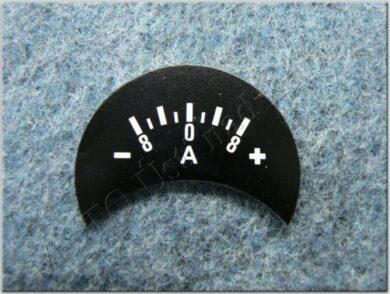 Ammeter plate, -terminal left, 8A ( Pér, Kyv )(020312)