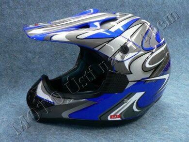 Motocross Helmet CR2 - streamline blue ( Motowell )(890021M)