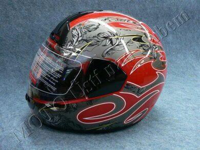 Full-face Helmet FF1 - mist red ( Motowell )(890084M)