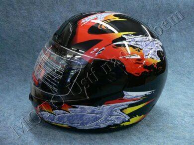 Full-face Helmet FF1 - volcano black ( Motowell )(890104M)