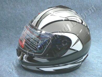 Full-face Helmet FF2 - bishop black ( Motowell )(890116M)