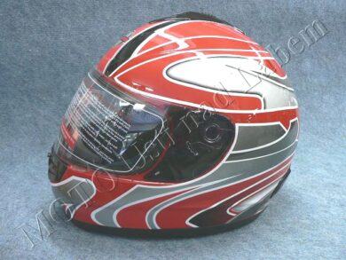 Full-face Helmet FF2 - extreme red ( Motowell )  (890131M)