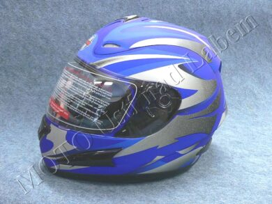 Full-face Helmet FF4 - magnetic stripe blue ( Motowell )  (890180M)