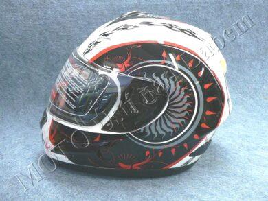 Full-face Helmet FF4 - shot white ( Motowell )(890184M)