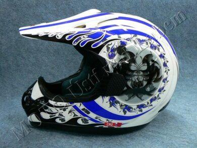 Motocross Helmet CR2 - blue central ( Motowell ) Size XXL(890011M)