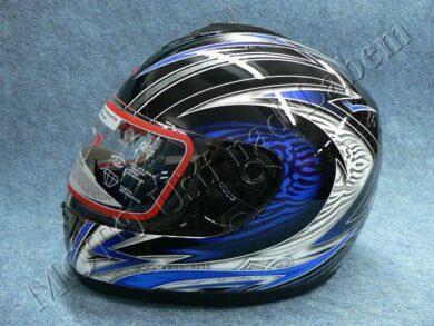 Full-face Helmet FF3 - blue ice ( Motowell )(890156M)