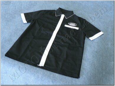 Shirt black-white logo Jawa - Size. S(930630)
