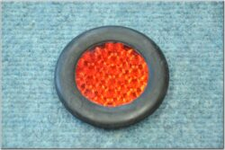Rear reflector in rubber - complet ( Jawa,ČZ ) CZK