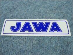 Sticker JAWA - blue 140x35