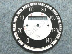 ciferník tachometru 140 km ( Kývačka )