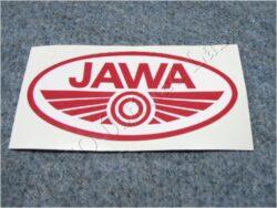 Sticker JAWA - red-white 100x50