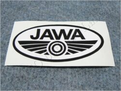 Sticker JAWA - black-white 100x50