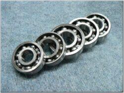 Engine bearings - set 5pcs. ( Jawa250 - 353,559,590,11 )