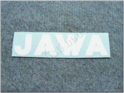 Sticker JAWA - white 120x28