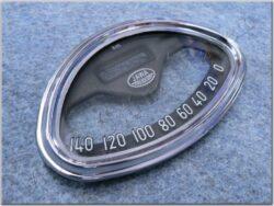 Glass w/ rim, Speedometer, 140km ( Panelka 350 ) / D=125mm / d=115mm