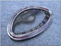 Glass w/ rim, Speedometer, 120km ( Jawa 250 - 559 ) / D=125mm / d=115mm