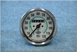 Speedometer 120 km/h ( Jawa 353 / ČZ ) green