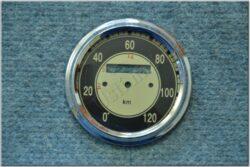 repair kit - speedometer 120km / h (Kyvačka) black dia / D=85mm / d=75mm