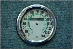 repair kit - speedometer 140km / h (Kyvačka) green dial / D=85mm / d=75mm