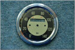 repair kit - speedometer 140km / h (Kyvačka) black dial
