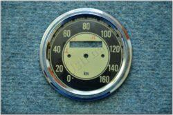 repair kit - speedometer 160km / h (Kyvačka) black dial / D=85mm / d=75mm