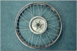 "wheel 19 ""x 1,85 - with seal (Jawa Sport ) chrome(011909)"
