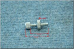 Bolt adjustment, cable M6x25 ( UNI ) nut D = 15mm  (011989)