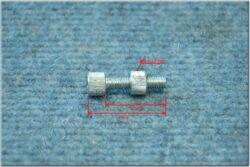 Bolt adjustment, cable M6x25 ( UNI ) orig. nut D = 10 mm  (011990)