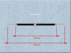 Cable,Speedometer / tachometer 800mm ( Jawa,ČZ ) orig.(012009)