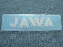 Sticker JAWA - white 140x35
