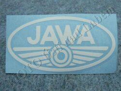 Sticker JAWA - white 100x50