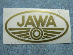 Sticker JAWA - gold 100x50