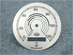 Dial, Speedometer 120km ( Pérák ) / D=77mm