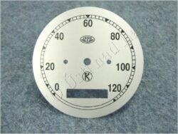 Dial, Speedometer 120km ( Pérák FJ ) K / D=77mm