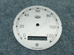 Dial, Speedometer 120km ( Pérák - Zbrojovka) / D=77mm