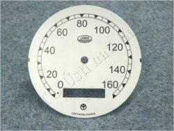 Dial, Speedometer 160km ( Pérák - Zbrojovka) / D=77mm
