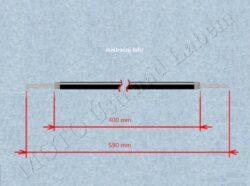 Bowden cable, Rr. brake w/ hook ( Jawa 634-640 )(060296)