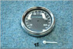Repair kit - speedometer 160 km / h (ČZ,Bizon) black dial / D=60mm