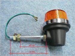 blikač kulatý s tyčkou 77mm ( Jawa 638 ) černý(080318)