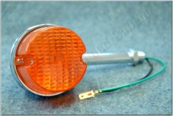 Turn signal light, round, rod 105mm ( Jawa 638 )