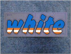 Sticker / decal / WHITE (Jawa 640 )