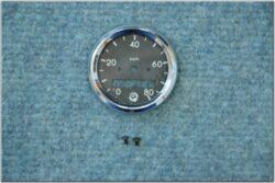 Repair kit - speedometer 80 km / h (Pio 20-23) black dial / D=50mm / d=40mm