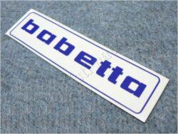 Sticker BABETTA - blue 145x37