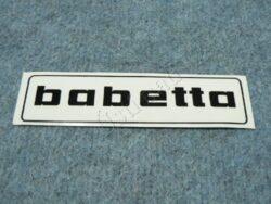 Sticker BABETTA - black 145x37