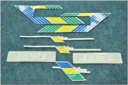 Stickers sheet- white / green / yellow / blue (BAB 210)