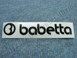 Sticker BABETTA - black 135x25