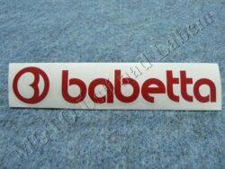 Sticker BABETTA - red 135x25