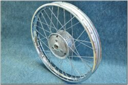 "wheel 18 ""x 1,6 complete - bare ( Jawa 90 ) chrome"