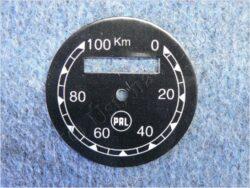 ciferník tachometru 100 km ( ČZ B,T,C ) PAL