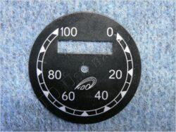Dial, Speedometer 100km ( ČZ B,T,C ) VDO / D=57mm